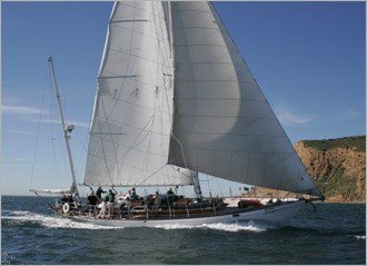 Historical Wooden Sailing Yacht