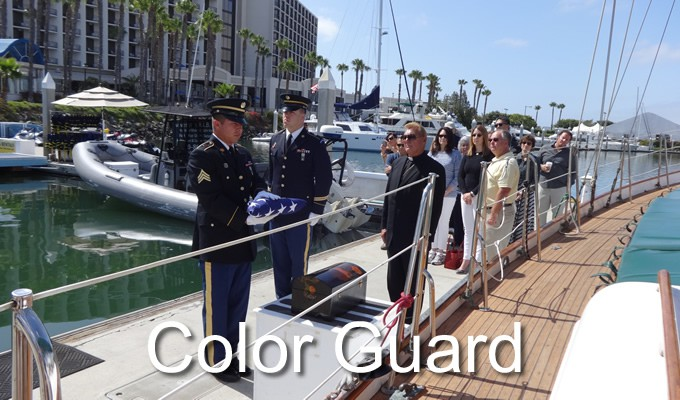 military burial at sea color guard