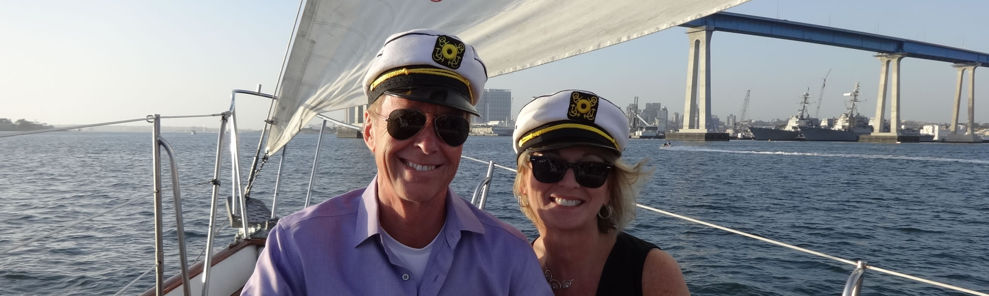 Private sailing charter on JADA - classic wooden sailboat, in San Diego