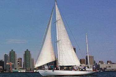 sail jada in san diego harbor
