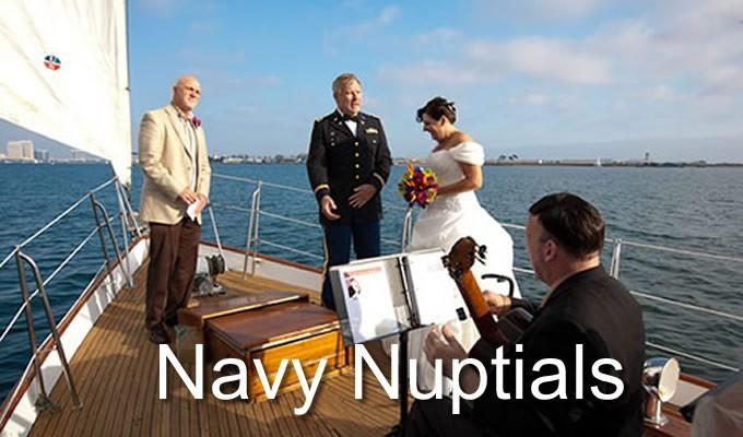 navy nuptials aboard JADA